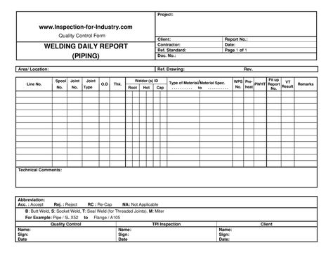 Welding Inspection Report Template 3 Templates Example Templates Example Fotografi