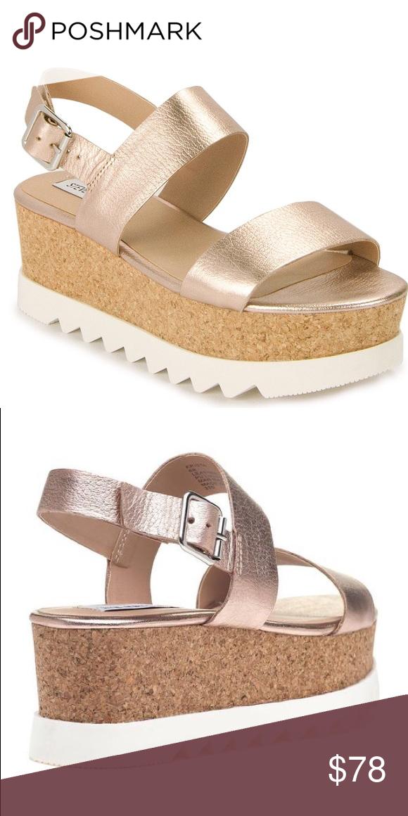 cd0cf28264d Krista platform sandal Rose gold platforms by Steve Madden. SO on trend and  a must