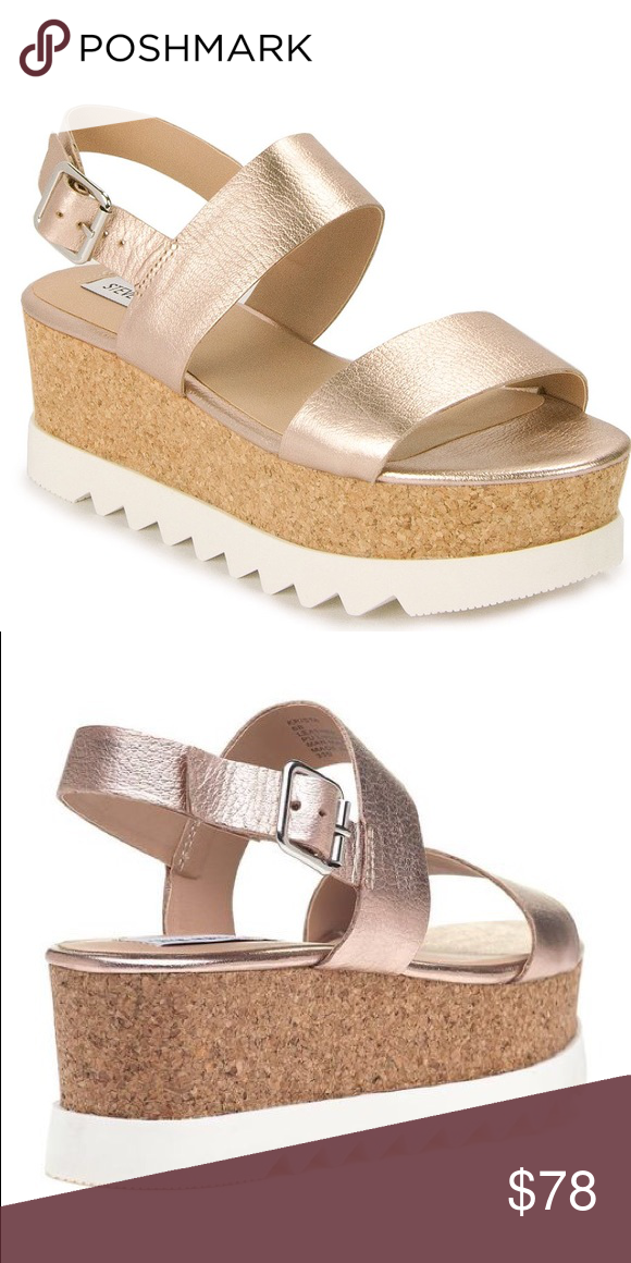 b027a6433ed Krista platform sandal Rose gold platforms by Steve Madden. SO on trend and  a must