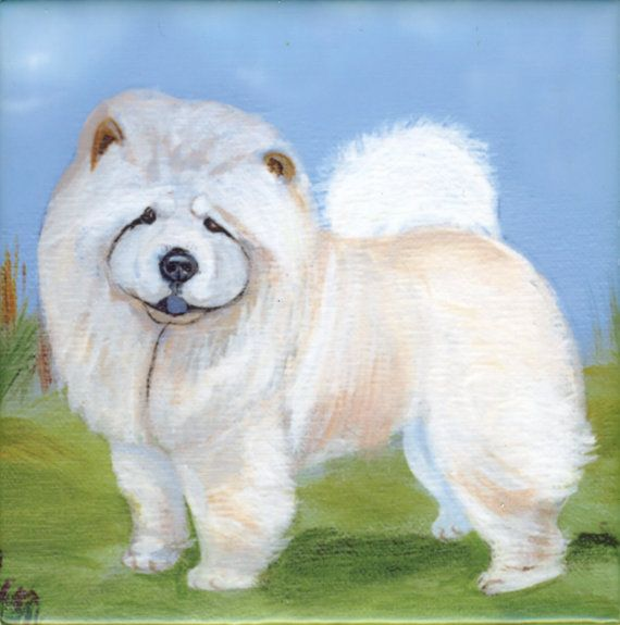 Chow Chow Dog Art Tile By Sharon Nummer By Caninepainter On Etsy