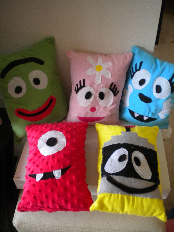yo gabba gabba pillow set 60 00 via etsy kids party ideas