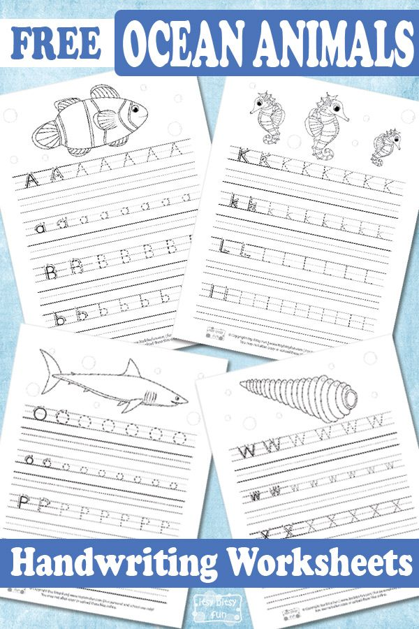 ocean animals handwriting worksheets itsy bitsy fun handwriting worksheets learn. Black Bedroom Furniture Sets. Home Design Ideas