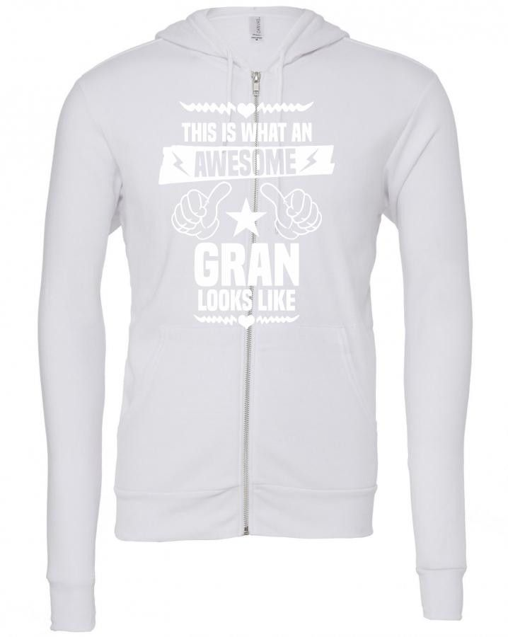this is what an awesome gran looks like 1 Zipper Hoodie