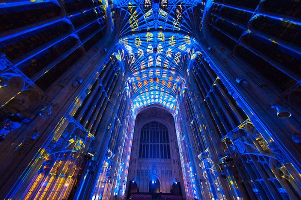Projection Mapping Turns ThCentury Chapel Into Stunning Work Of - Projection mapping turns chapel into stunning work of contemporary art