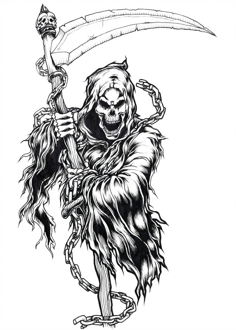 Coming To Get Ya By Brown73 On Deviantart Grim Reaper Drawing