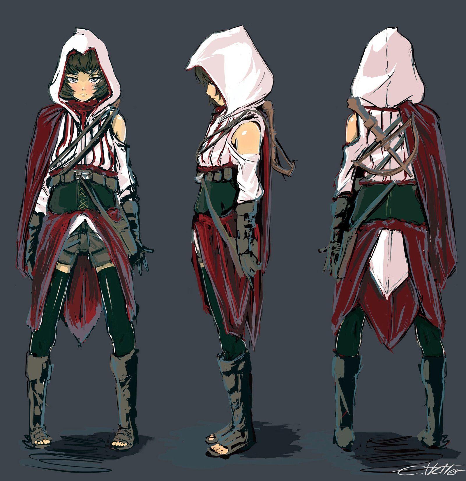 Female Assassin Female Assassin Anime Outfits Assassins Creed Female