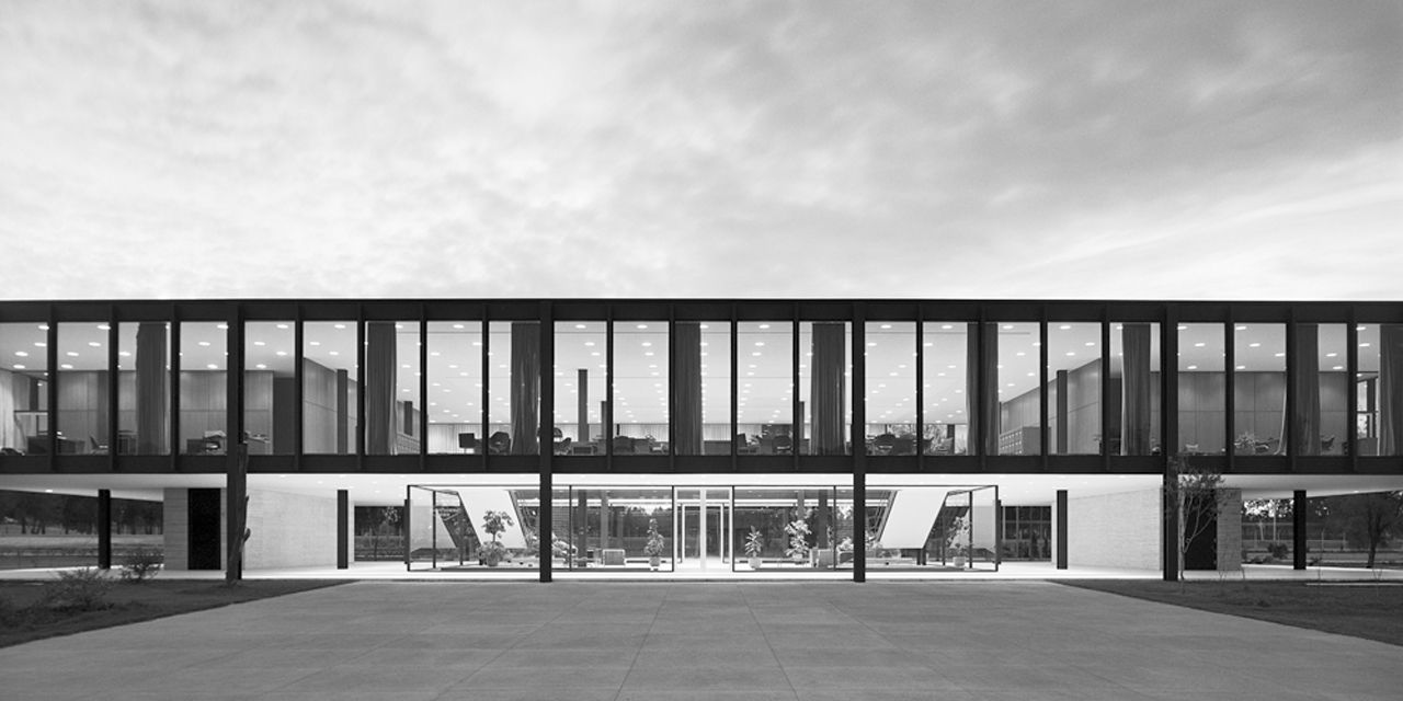 Bacardi Headquarters In Mexico By Ludwig Mies Van Der Rohe Architecture Van Der Rohe Mies Van Der Rohe