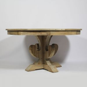 Table ronde avec pied central AuthentiQ en bois recyclé - Naturel ...