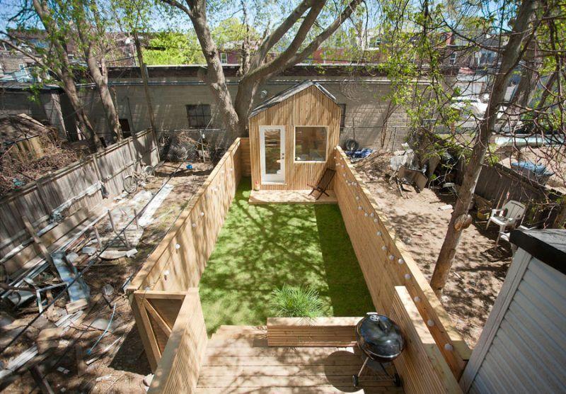 Wonderbaarlijk Tuinhuis werkplek kleine tuin | Achtertuinen, Achtertuin kantoor BD-17