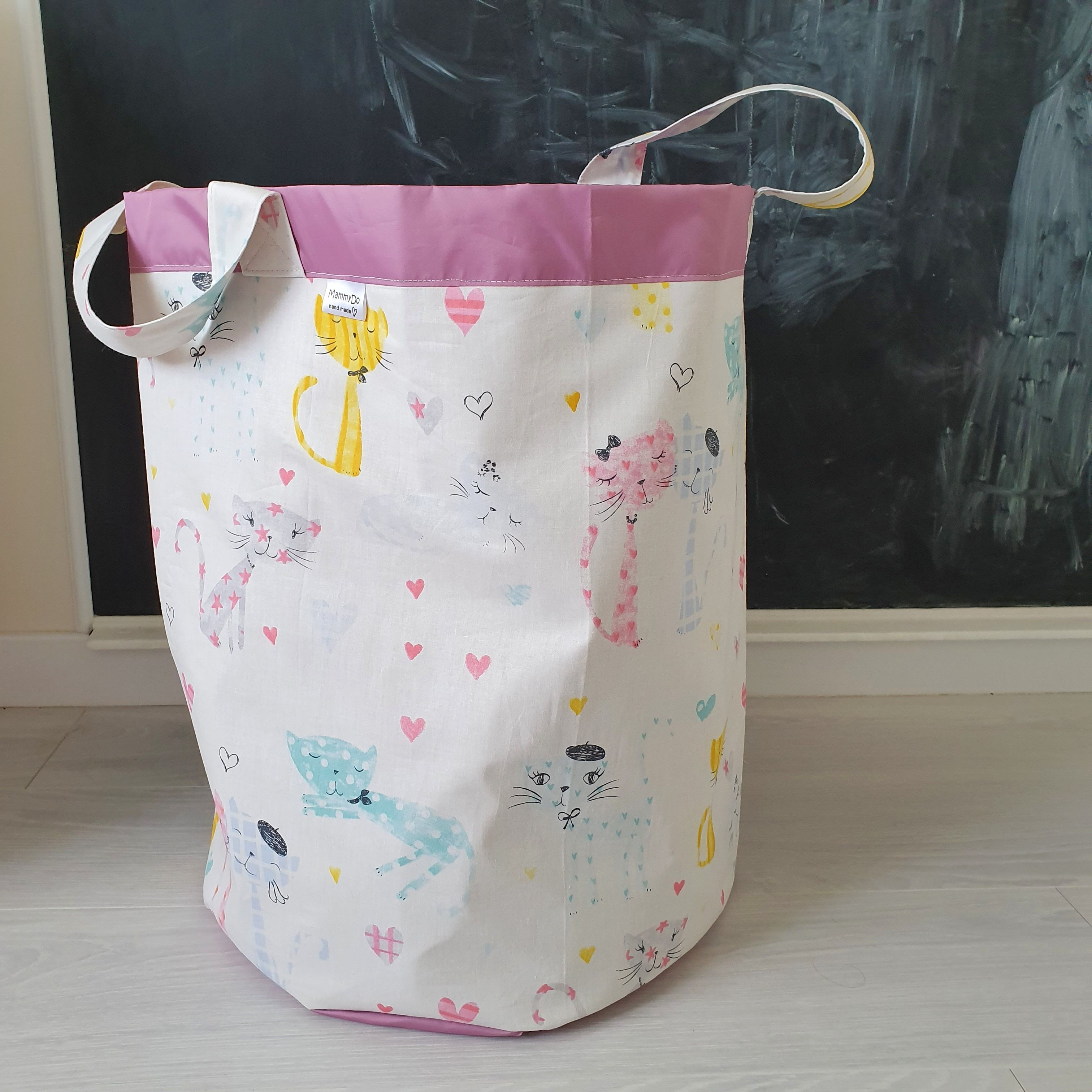 Fabric Basket Cats Print Toy Box Basket For Toys Toy Storage Fabric Storage Basket Laundry Basket Storage Bin Laundry Bag Gift For Baby Toy Storage Bags Fabric Storage Baskets Fabric Baskets