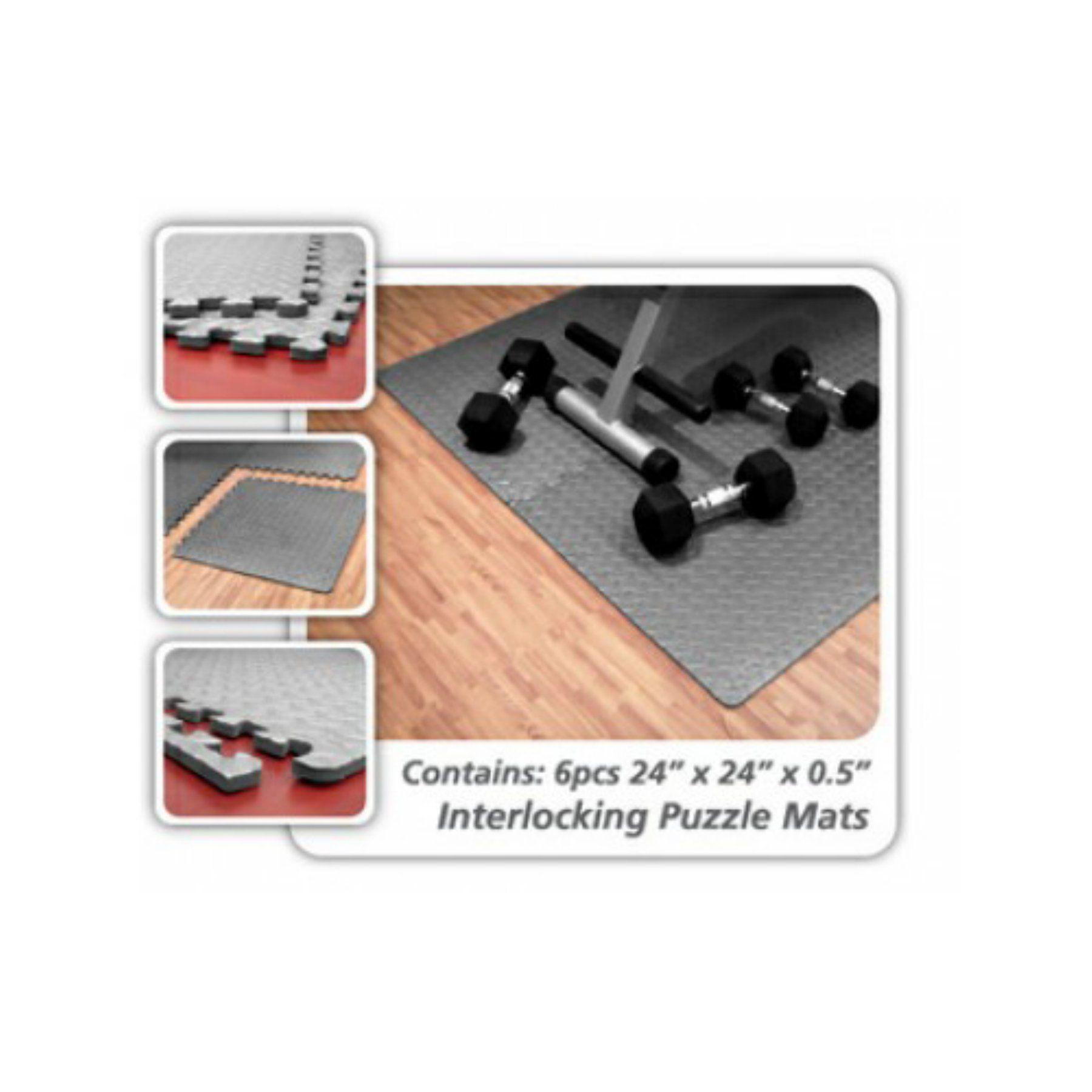 Ultimately Fit Interlocking Floor Mats Pack of 6 E100