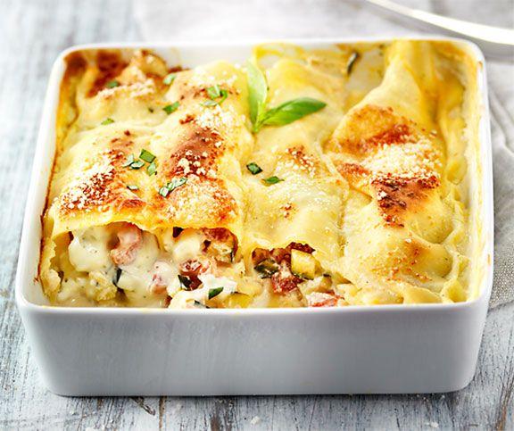 Leichte Cannelloni Rezept Rezepte Cannelloni Rezepte Zucchini Rezepte