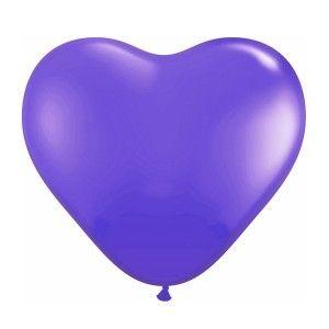 Balloons Purple Heart
