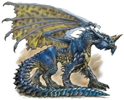 blue and gold dragons fantasy