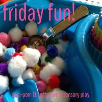 Larabee: |FAMILY|toddler activity - cotton wool and pom-pom sundae sensory box