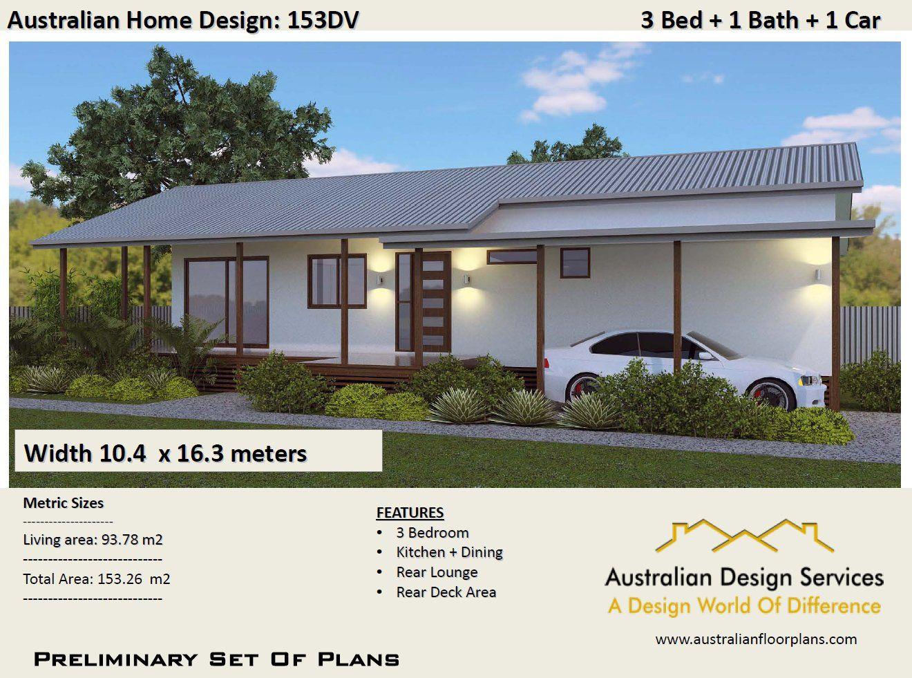 3 Bedroom Timber Floor 153 M2 3 Bedrooms On Stumps Plans Etsy House Plans For Sale House Plans Bedroom Floor Plans