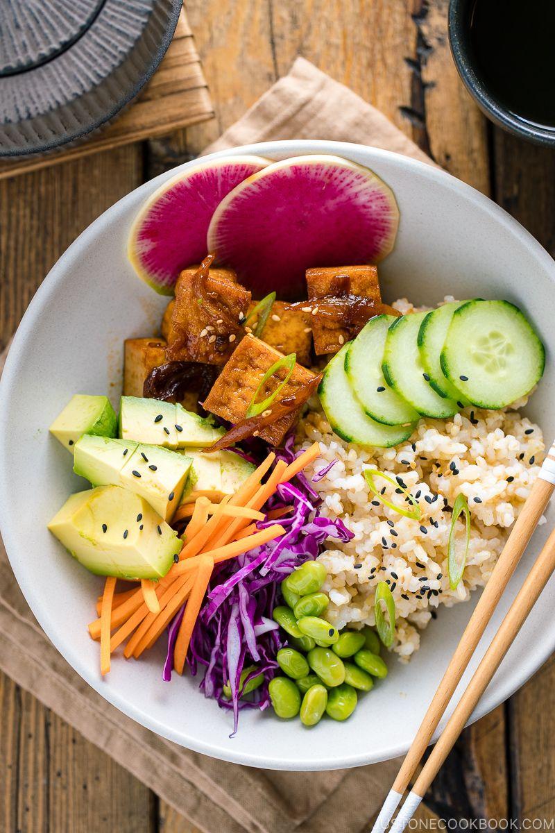 Vegan Poke Bowl ヴィーガンポケ丼 Just One Cookbook Recipe In 2020 Easy Japanese Recipes Recipes Vegan Japanese