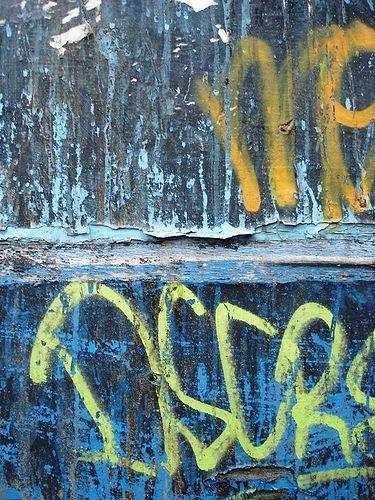 spattered blue