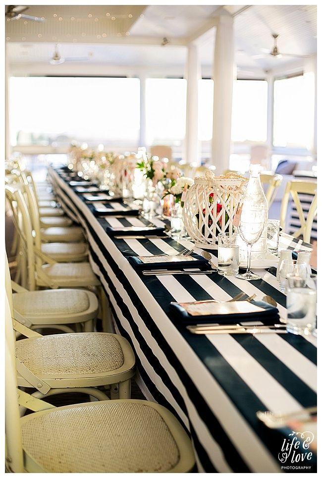 Noosa Boathouse River Room Sit Down Wedding Reception Sunshine Coast