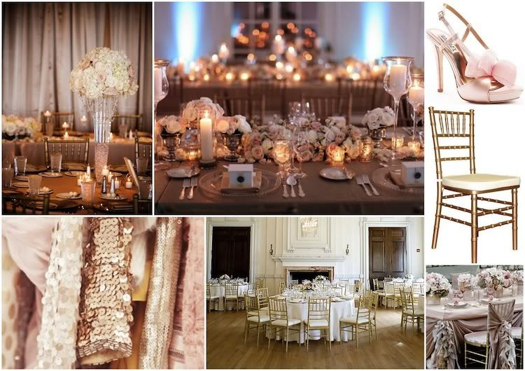 Weddings And Events Blush Gold Silver Wedding Inspiration