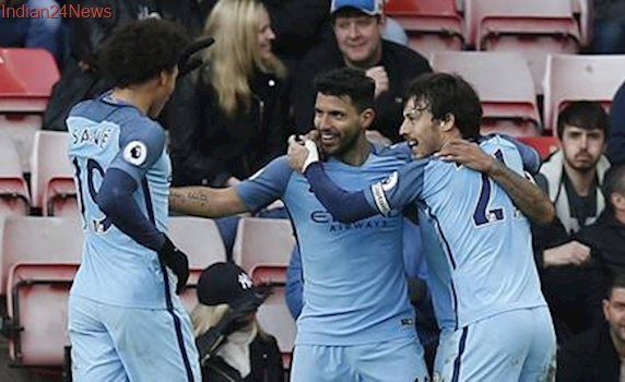 Manchester City beat Sunderland 2-0, maintain sights on Premier League title