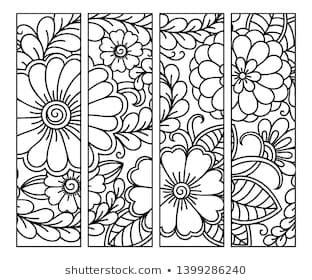 Katika S Portfolio Illustrator Vector Artist Videographer Shutterstock Coloring Bookmarks Pattern Coloring Pages Coloring Books