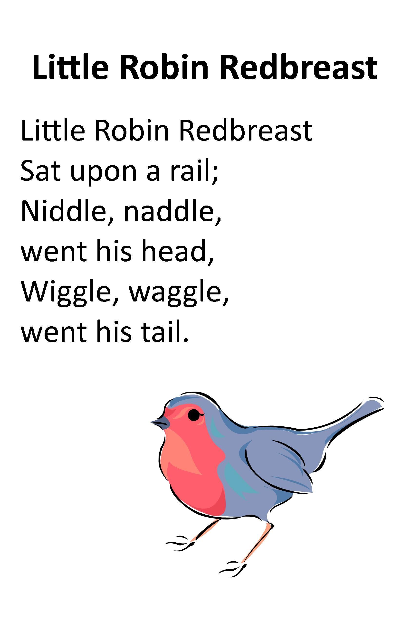 Itty Bitty Rhyme Little Robin Redbreast