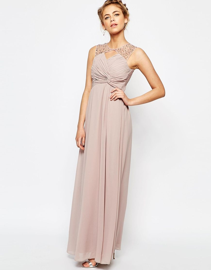 Ohvola gold embellished maxi dress