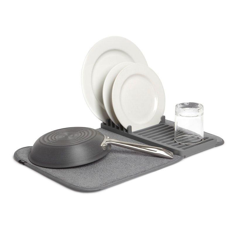 Udry Mini Dish Drying Mat Charcoal Dish Drying Mat Dish Racks