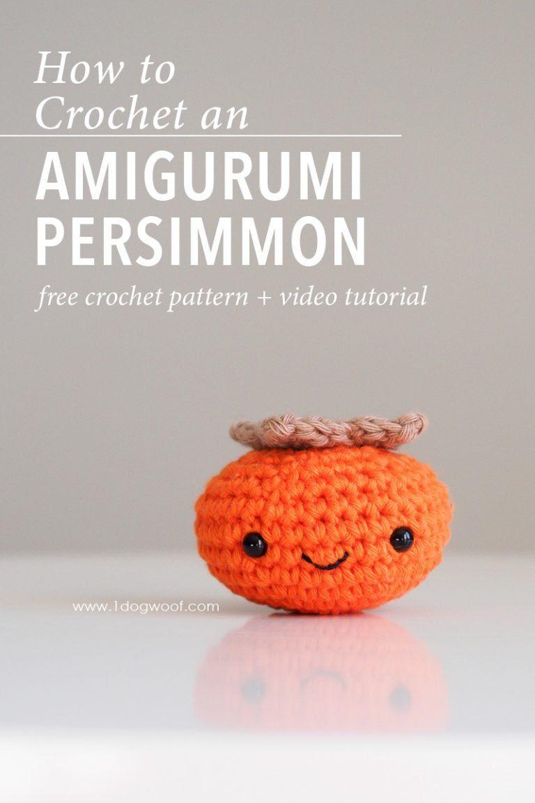 Amigurumi Persimmon Crochet Pattern   crochet   Pinterest   Croché ...