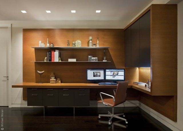 home office modern. i want this street residence - modern home office new york ian engberg u shaped desk layout e