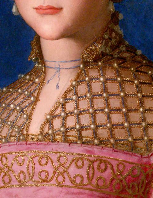 Portrait detail - BRONZINO Agnolo di Cosimo di Mariano, conosciuto come il Bronzino (Monticelli di Firenze, 17 novembre 1503 – Firenze, 23 novembre 1572)   #TuscanyAgriturismoGiratola