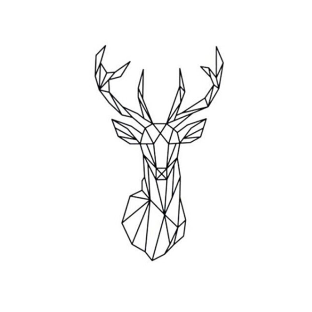 Geometry-Animal-Series-Decals-New-Design-Geometric-font-b-Deer-b ...