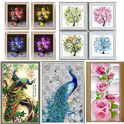 5D DIY Diamond Painting Flower Animal Embroidery Cross Craft Stitch Home Decor