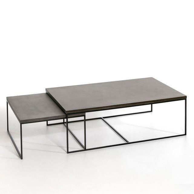 le table basse auralda utiliser seule ou en table gigogne avec la petite taille vendue sur notre site caractristiques plateau en rsine finition - Table Basse Dimension