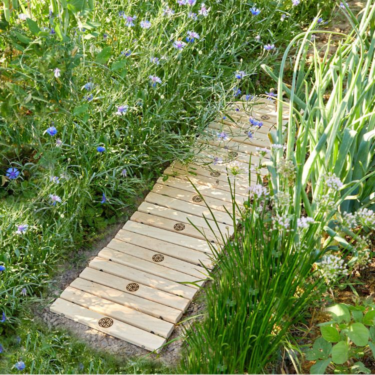 Rollbarer Gartenweg Saat Des Lebens Garten Gartenweg Gartenparadies