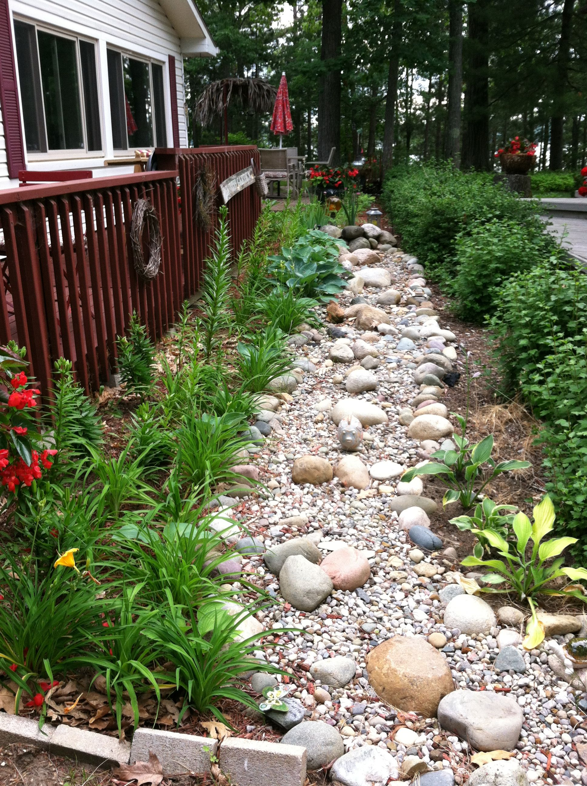 Dry creek bed Garden projects, Creek bed, Dry creek bed