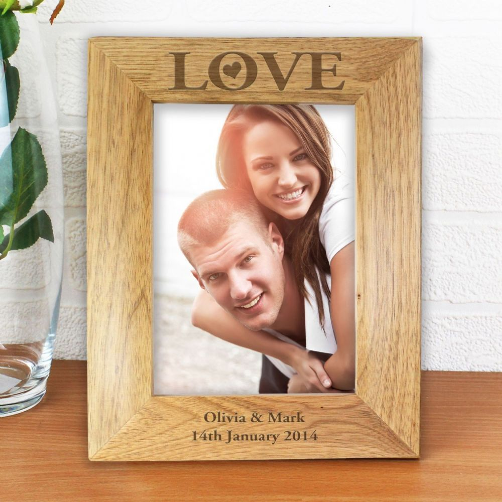 Personalise This Love 5x7 Wooden Frame With Any Message Over 2