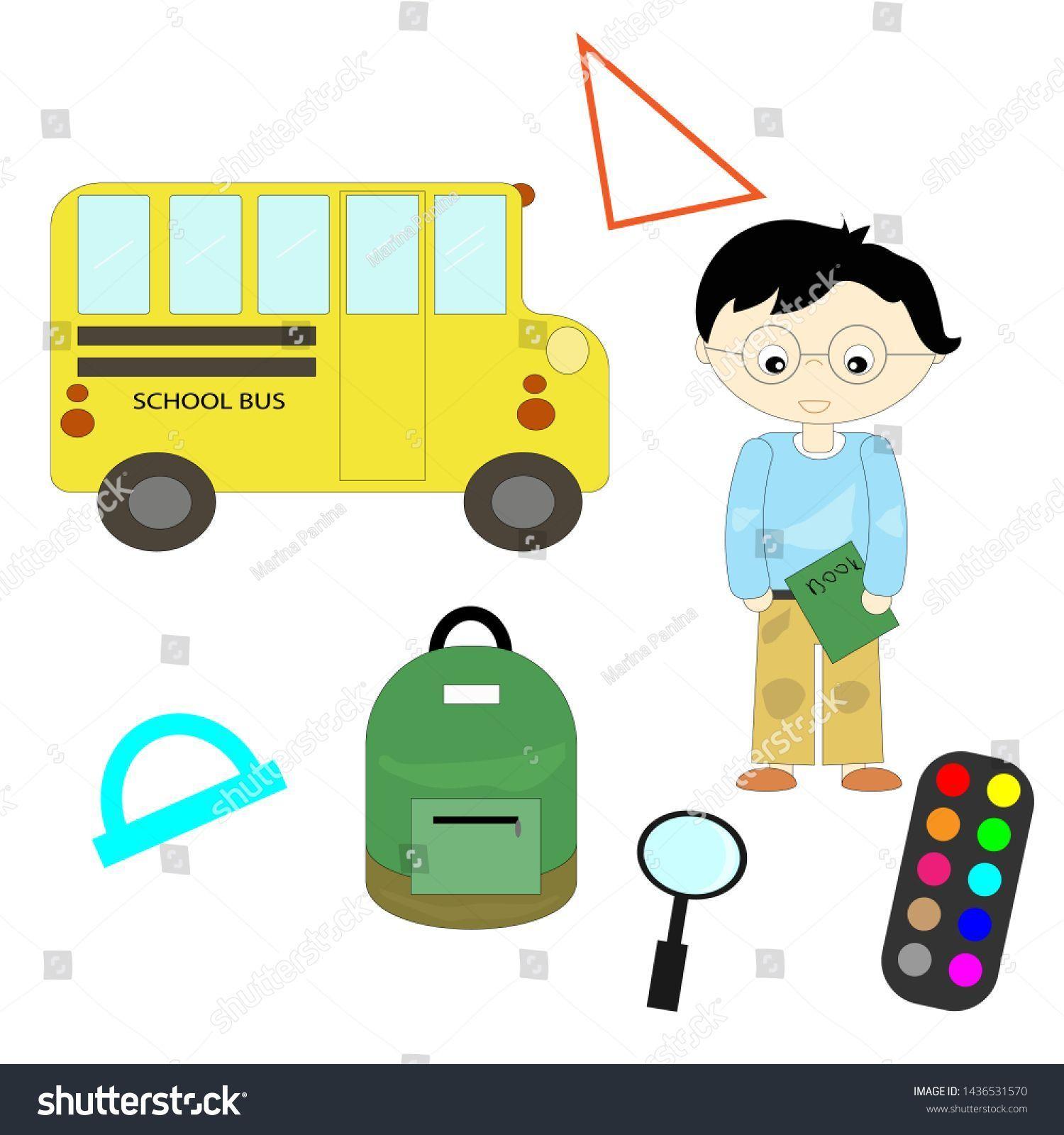 Back School Background School Supplies Set Stock Vector (Royalty Free) 1436531570,  #backgrou...,  #backgrou #background #Free #Royalty #School #schoolsuppliesillustration #Set #Stock #Supplies #Vector