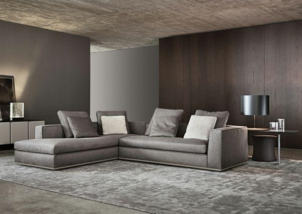 Ecksofa-hell-lila Wandbeleuchtung Wohnzimmer | Interieur Design ...
