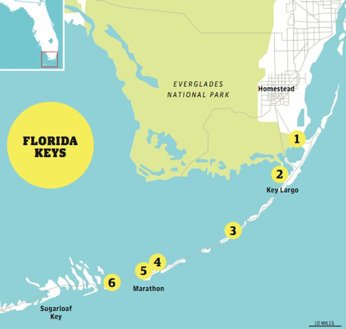Florida Keys Highway Over The Sea Florida Keys Key And Archipelago - Driving distance map us