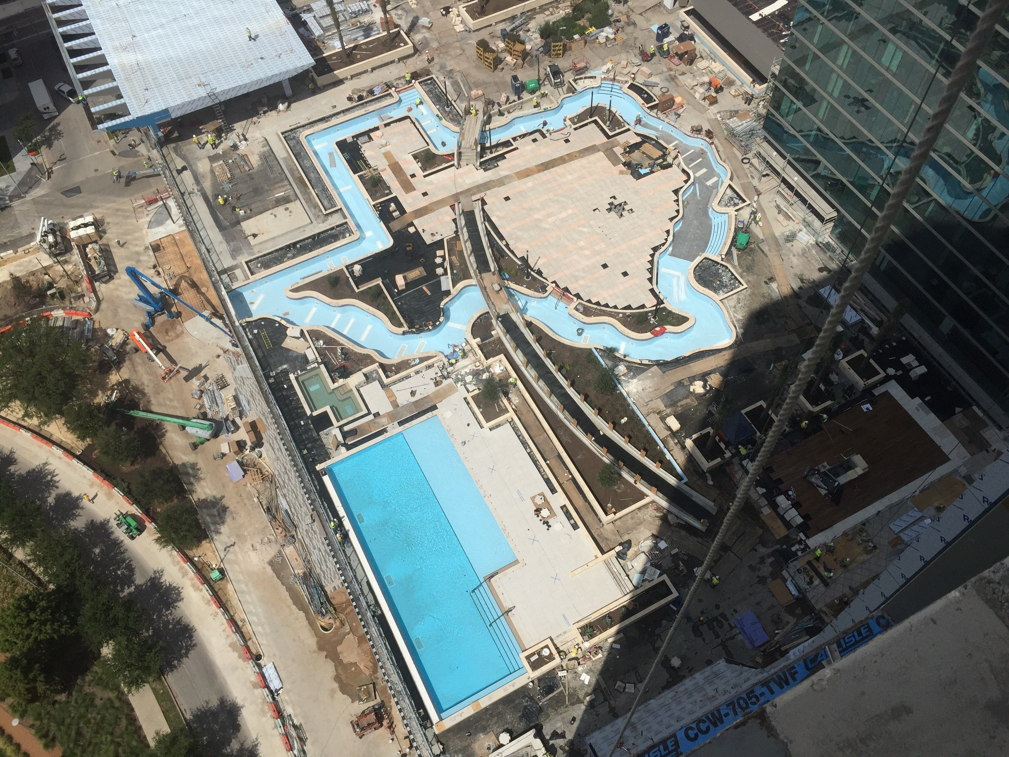 Texas Shaped Lazy River At The Marriott Marquis Houston Marriott