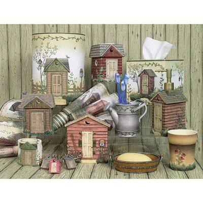 outhouse bathroom decor outhouses bath accessories collection rh pinterest com  outhouse bathroom collection