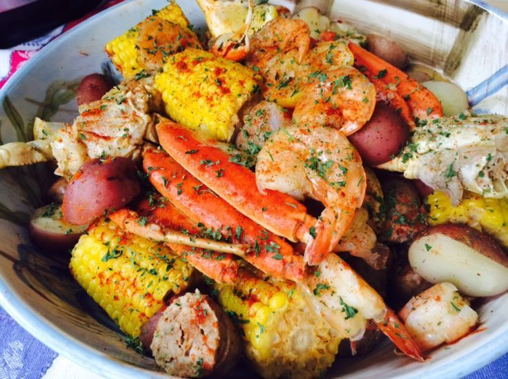 Seafood Boil with Instant Pot  Jumbo Shrimp Crab Legs Sweet Sausage Corn on the Cob and R Seafood Boil with Instant Pot  Jumbo Shrimp Crab Legs Sweet Sausage Corn on the...
