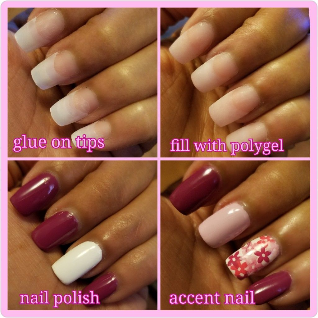 Easy at home manicure Polygel nails, Nail polish, Accent