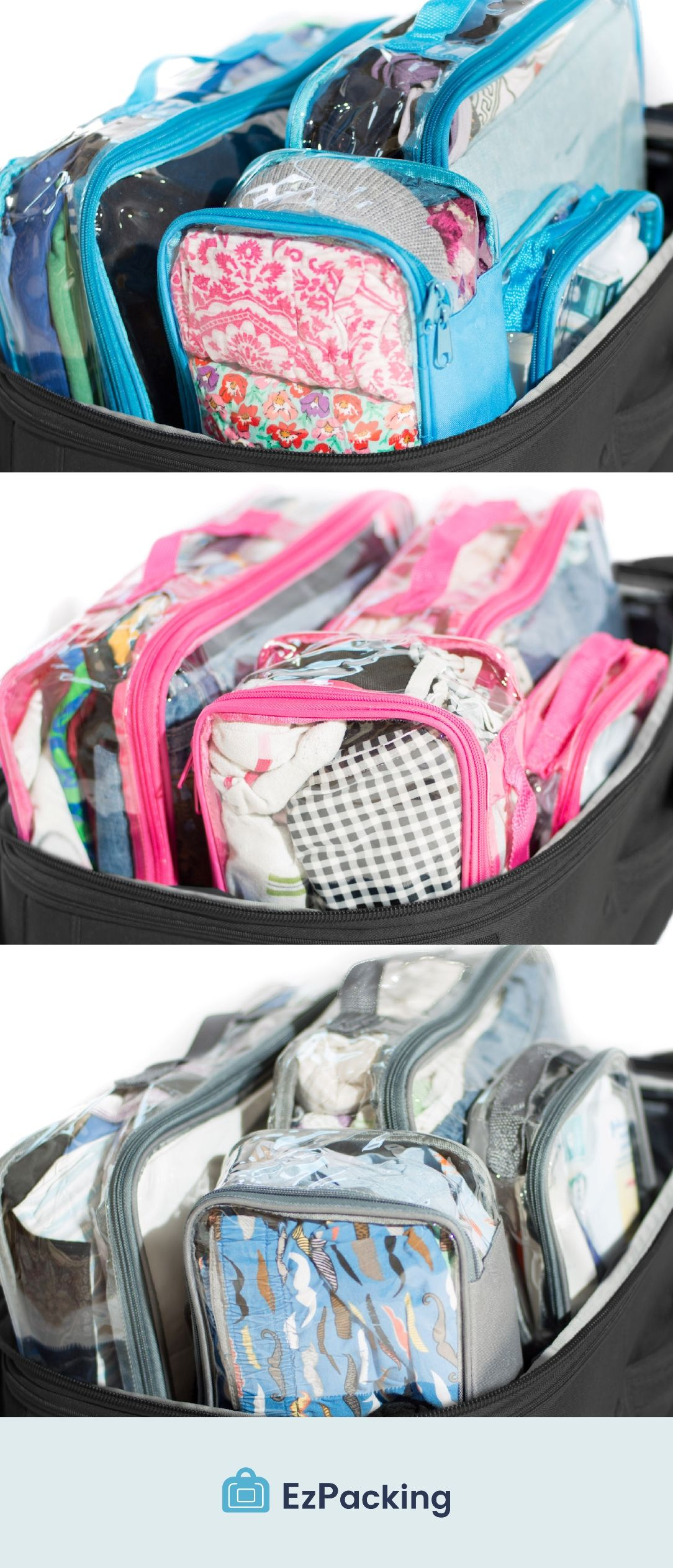 4b7f64e60 Best Clear Packing Cube System for Organized Kids Suitcases | ideas ...