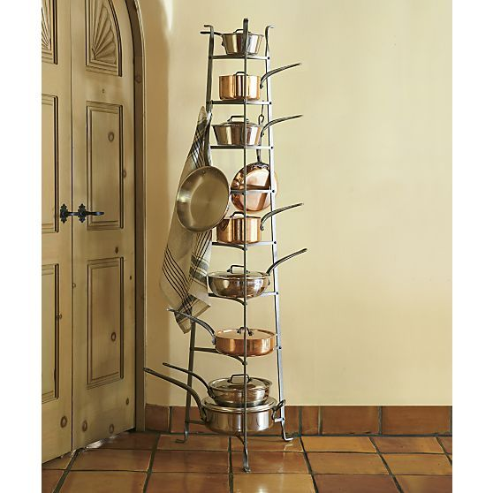 Enclume® Standing 8 Tier Pot Rack | Crate And Barrel