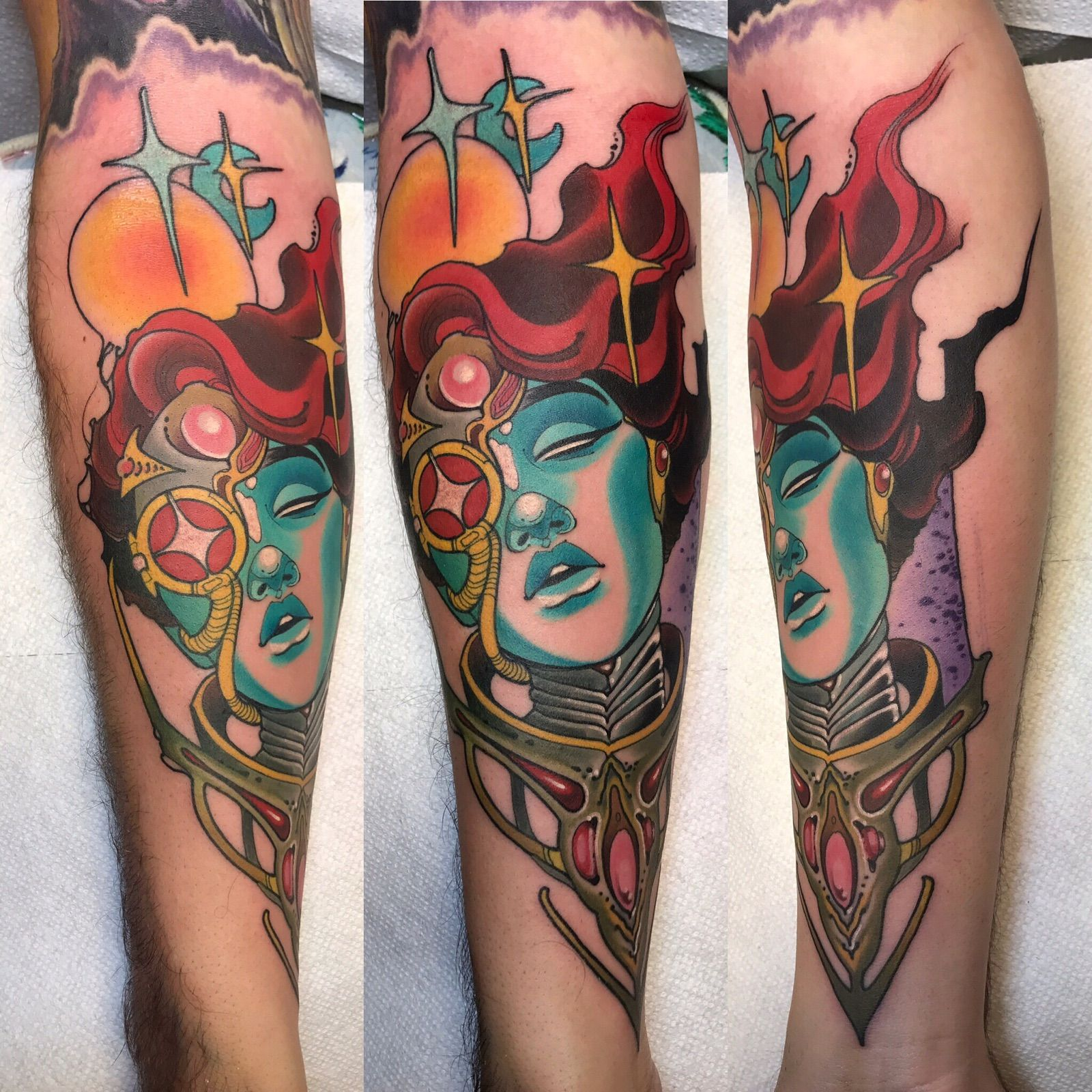 My freshly done space babe by aaron riddle immortal art scottsdale