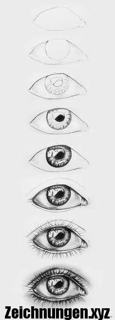 Augen zeichnen – Schritt für Schritt - DIY Ideen #pencildrawingtutorials