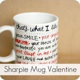 Sharpie GiftIdeas Mug GiftIdeas Diy Valentine Mug Diy Sharpie Valentine 76gbyYf